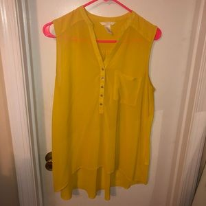 H&M yellow high-low top